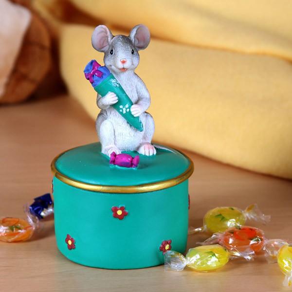 Dose Maus mit Schultüte - Grün