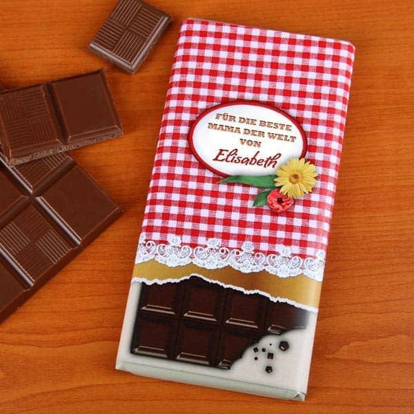 Schokolade zum Muttertag mit Wunschnamen