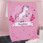 Handtuch mit Pink Pony und Name in zwei Größen