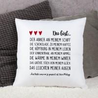 Kissen mit Liebeserklärung