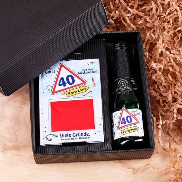 Geschenkset zum 40. Geburtstag