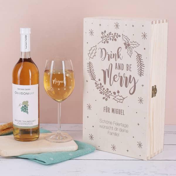 - Drink and be Merry Traubensaftset als Weihnachtsgeschenk - Onlineshop Geschenke online.de