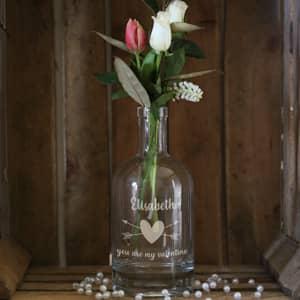 Gravierte Karaffe zum Valentinstag