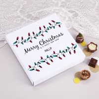 Personalisierte Lindt Pralinen Merry Christmas