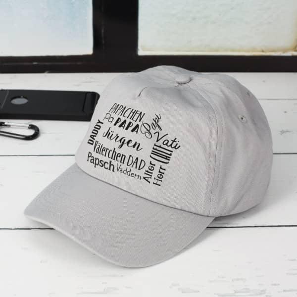 Basecap zum Vatertag mit Namensaufdruck