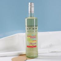 Weißweinflasche mit guten Wünschen zum Fest
