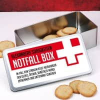 Persönliche Notfall Box mit Ihrem Wunschtext gestaltet
