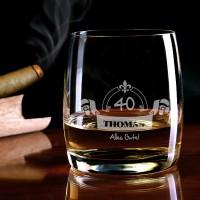 graviertes Whiskyglas Alles Gute mit Name und Alter