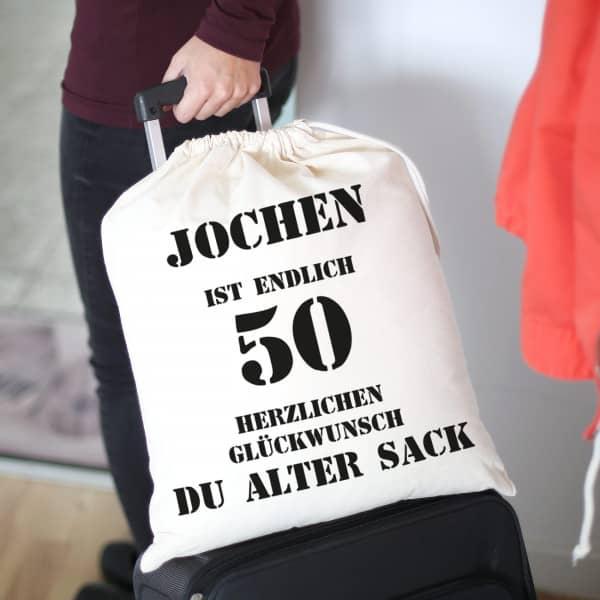 Baumwollbeutel Mit Namen Personalisiert Fur Den Alten Sack