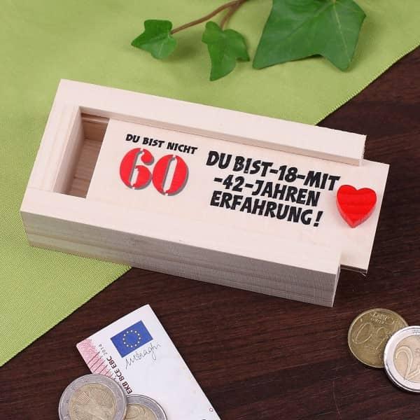 Geldkiste Zum 60 Geburtstag