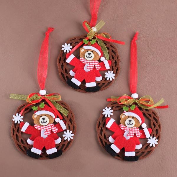 Deko Filz Hänger - Weihnachtsbär