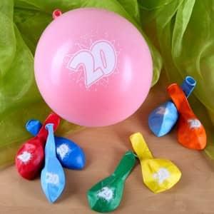 Luftballons zum 20. Geburtstag