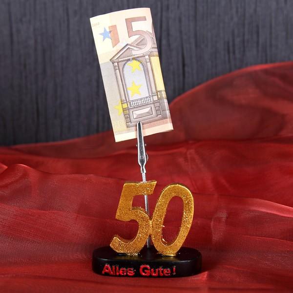 Geldgeschenk mit Klammer - 50