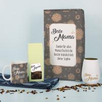 Geschenkset - Beste Mama - mit Tee, Tasse und Windlicht