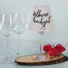 Tischbeleuchtung zur Silberhochzeit - Lampenschirm mit Weinglas - mit Namen
