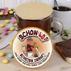 Schokolade im Glas mit witzigem Motiv zum 40. Geburtstag