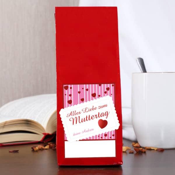 Früchte-Tee zum Muttertag mit Wunschname des Schenkenden