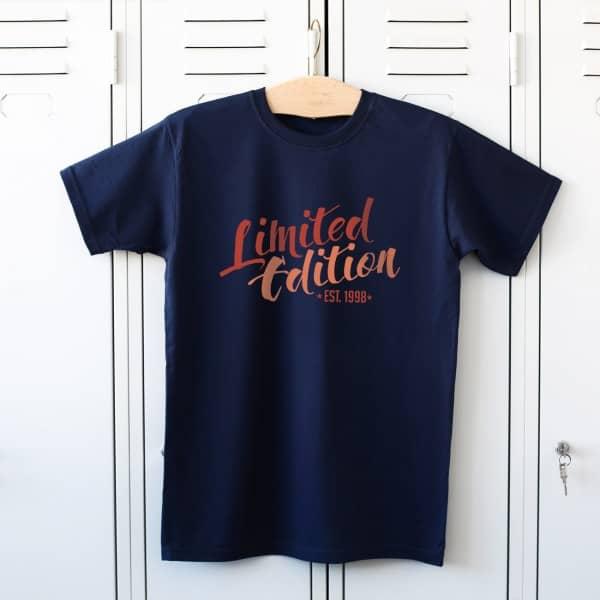 Herren T Shirt Limited Edition mit Jahreszahl