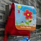 Kinderrucksack mit Blumenmotiv und Namen