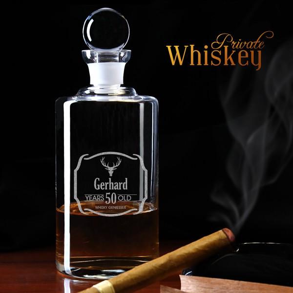 Whisky Karaffe mit Personalisierung *Geweih*