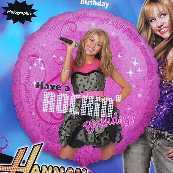 Folien-Ballon Hannah Montana