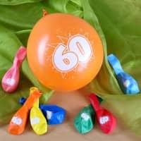 8 Luftballons zum 60. Geburtstag