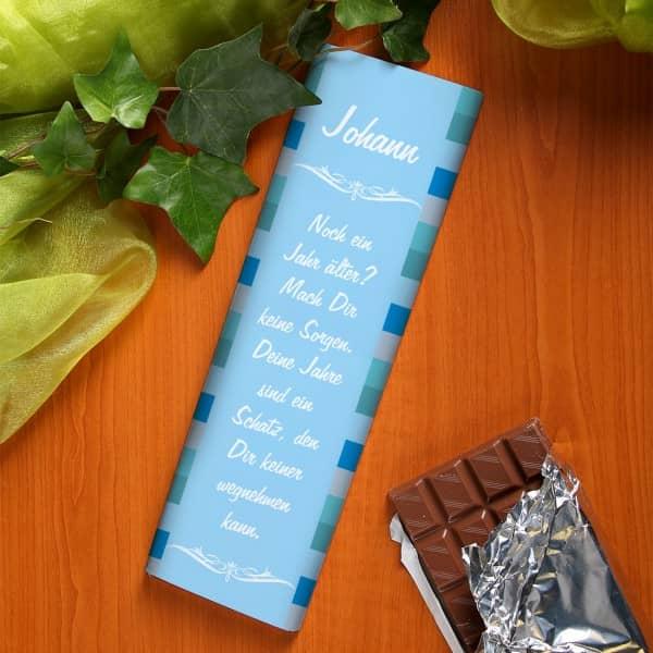 XL Schokolade mit Wunschnamen und Text für Männer