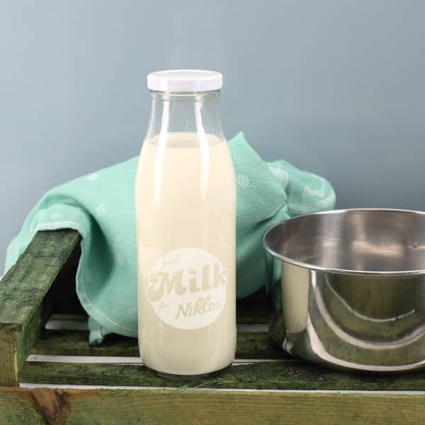 Milchflasche 500ml fresh Milk for mit Namensgravur