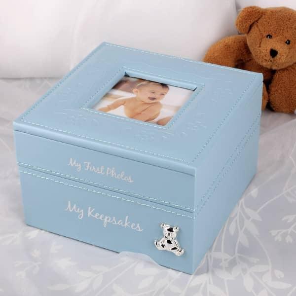 Aufbewahrungbox Baby Boy hellblau
