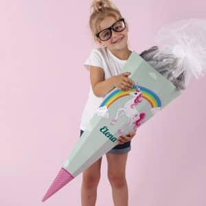 Schultüte mit Einhorn für Mädchen