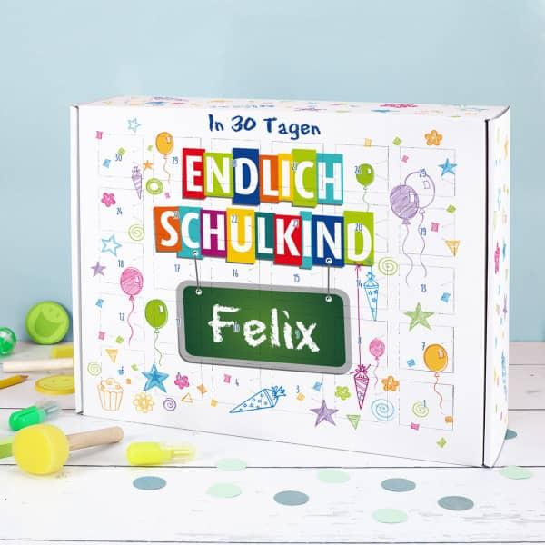 Endlich Schulkind - Countdown Kalender zum Schulstart