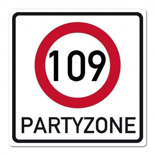 PVC-Banner zum 109. Geburtstag