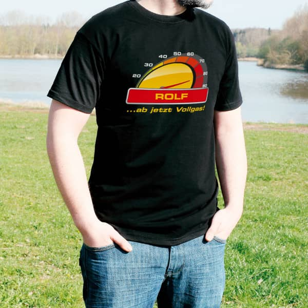 T-Shirt Vollgas zum 80.