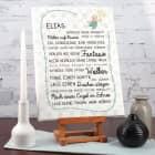 Leinwand für Jungen bedruckt 30 x 40 cm mit Name und Spruch