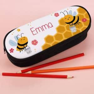 Stiftebox Bienchen mit Name personalisiert