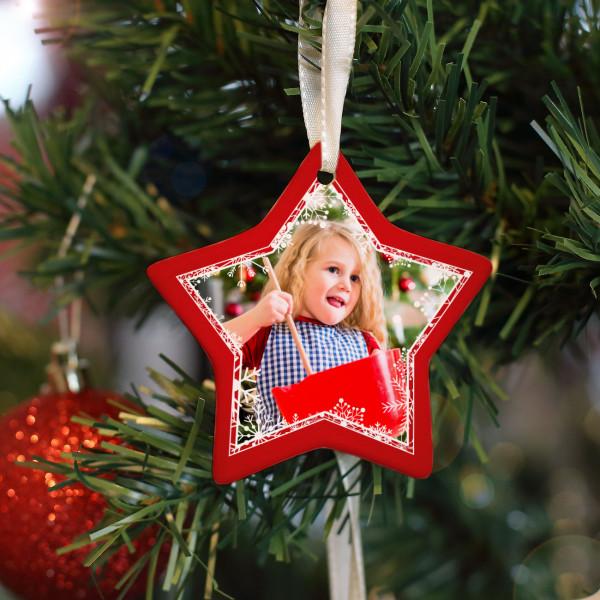 Schöner Anhänger für Ihren Weihnachtsbaum mit Wunschfoto