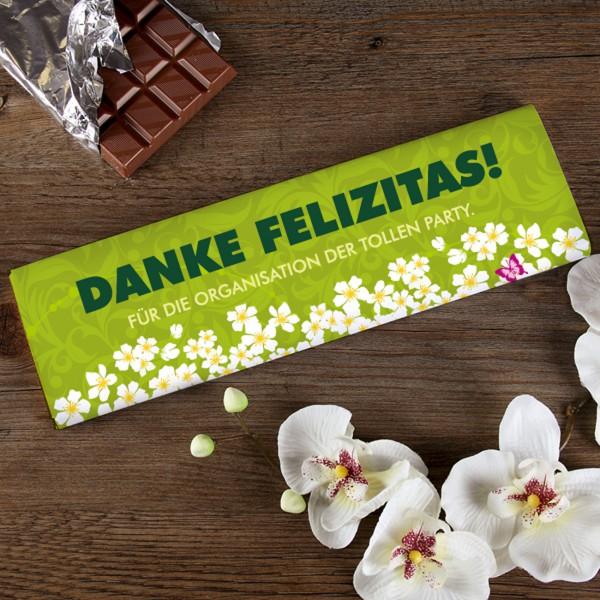 300g Schokolade mit Ihrem Wunschtext