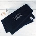 Bester Opa - Handtuch in Nachtblau mit Name bestickt, 3 Größen zur Auswahl