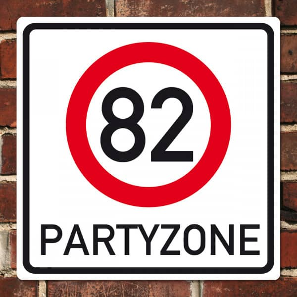 PVC Schild zum 82. Geburtstag