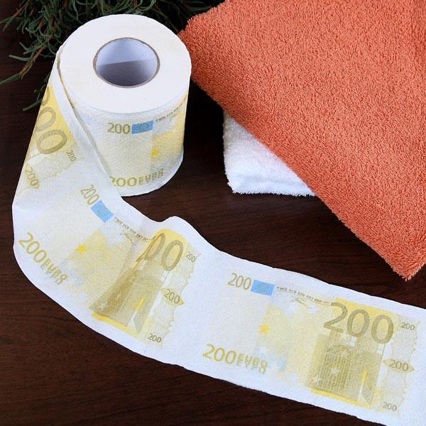 Klopapier im 200 Euro-Look