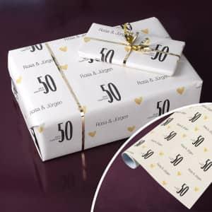 Geschenkpapier zum Geburtstag personalisiert