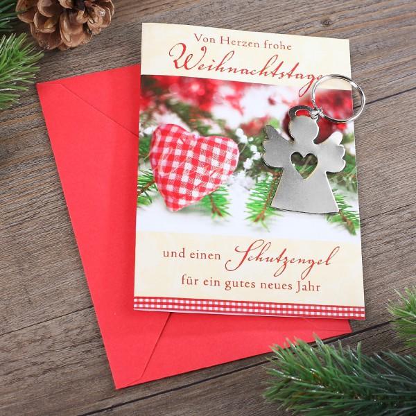 Karte - Frohe Weihnachtstage mit Schlüsselanhänger