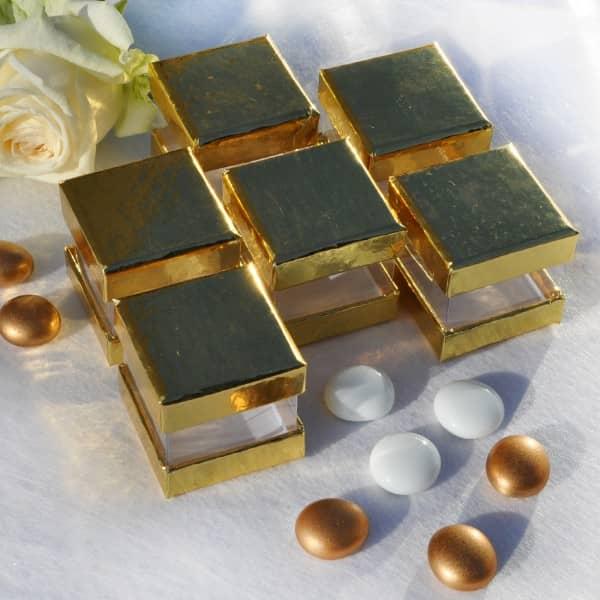 goldene Dekoboxen, 6 Stück