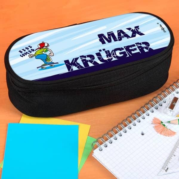 Stiftebox mit coolem Skateboardermotiv