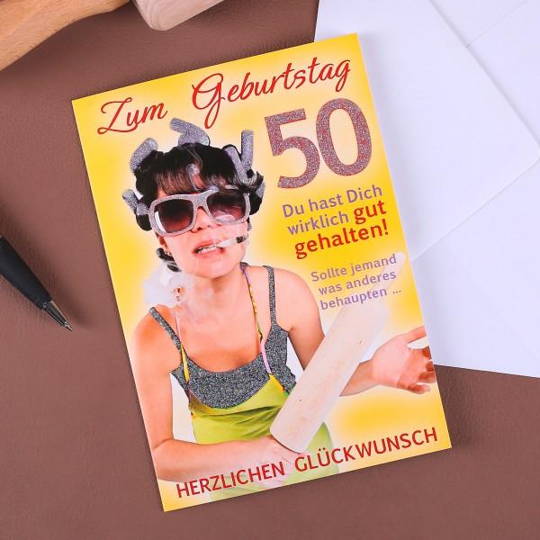 Glückwunschkarte zum 50. Geburtstag für Frauen