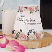 Lampenschirm Märchenhochzeit - mit Namen und Datum