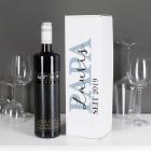 BREE Weinflasche mit bedruckter Verpackung für Papas - mit Wunschtext und Jahr