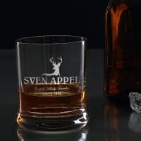 graviertes Whiskyglas Scotch Whiskey Drinker mit Wunschname und Geburtsjahr