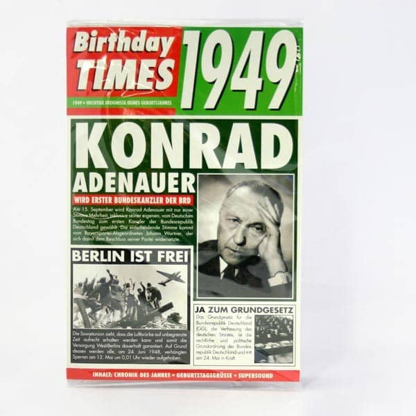 Birthday Times Karte mit Sound 1949