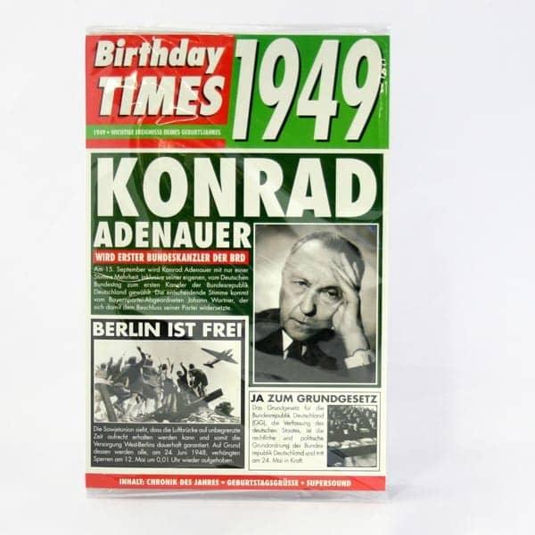 Birthday Times Karte 1949